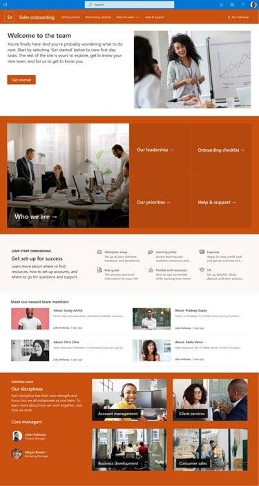 Microsoft 365 juni 2021 update - SharePoint template